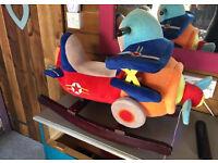 Rocking Aeroplane musical baby ride on