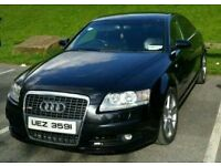 2007 AUDI A6 BLACK 2.0 TDI S LINE SALOON 7 SPEED AUTOMATIC