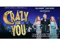 CRAZY FOR YOU starring TOM CHAMBERS ticket for 28 April 7.30pm start Sunderland Empire