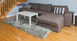 Ikea KIVIK 3 seat sofa / canape with chaise and coffee cover
