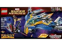 Box of lego which includes Guardians of the Galaxy & Lego dimensions