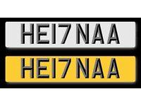 CHERISHED NUMBER PLATE - HE17 NAA PERSONALISED MUSLIM REGISTRATION/ HENNA HENNAA HENNNA