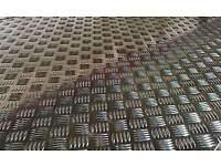 x2 Aluminium Checker Plate sheets 4.5mm thick (4ft/3ft)