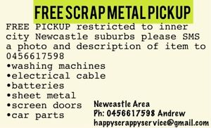 Free scrap metal pickup Newcastle CBD Newcastle Newcastle Area Preview