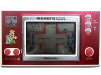 Nintendo game and watch retro videogame Mario cement factory