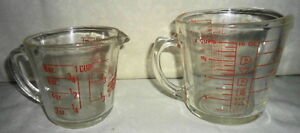 Vintage Glass Pyrex Measuring cups