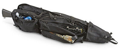 "45"" Double Rifle Drag Bag AR15 308 VISM Tactical Hunting Dual Rifle Case BLACK."