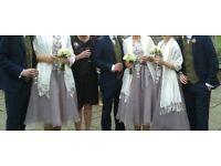 Beautiful dusky purple bridesmaid dress