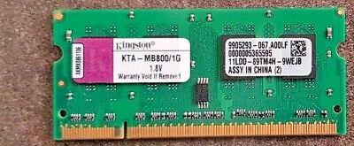 Usado, KINGSTON KTA-MB800/1G (1GB DDR2 PC2-6400 800MHz SODIMM 200-pin) DRAM - V. comprar usado  Enviando para Brazil