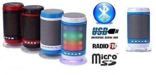 CASSA PORTATILE CON RADIO FM SD USB BLUETOOTH MP3 SMARTPHONE SPEAKER LED WS1806b