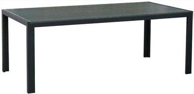 KMH® Gartentisch 205x90 cm grau Tisch Terrassentisch Balkontisch Holzoptik