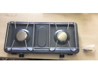 SunnGas Double Burner Camping Stove Hob