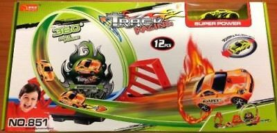 360* Racetrack with 1 loop TwisterLauncher Toy similar Hot Wheel level 1 - 12pcs