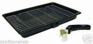 UNIVERSALE-fornello-forno-griglia-padella-VASSOIO-amp-MANIGLIA-380mm-X-280mm
