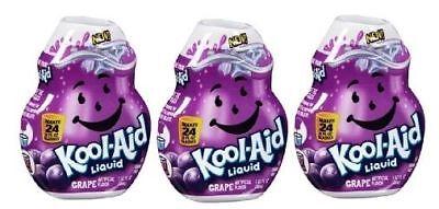 Liquid Grape Flavor (Kool-Aid Grape Flavor Enhancer Liquid Drink Mix 3 Bottle Pack)