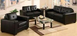 2PC FAUX LEATHER SOFA SET $799