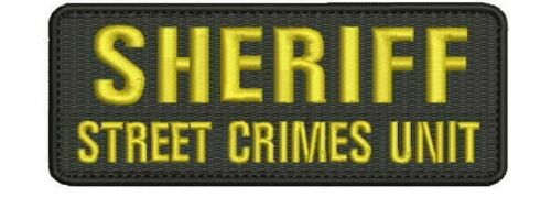 Sheriff Street Crimes Unit embroidery patches 2x5 hook gold