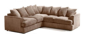 1 YEAR WARRANTY | LARGE LIVERPOOL CORNER SOFA IN JUMBO MOCHA + FREE FOOTSTOOL | UK EXPRESS DELIVERY