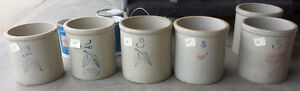 Red Wing Crock Churns Stoneware Primitive Country Rare collectio