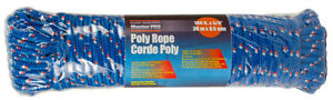 "Home Essentials Master Pro Poly Rope up to 400 lb100ft x 3/8"" Bl"