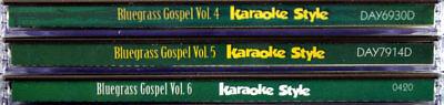 Bluegrass Gospel Volumes 4, 5 & 6 Christian Karaoke NEW CD+G Daywind 18 Songs