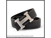 Hermes belt black and blue
