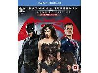 BATMAN V SUPERMAN BLU RAY DVD BRAND NEW AND SEALED BARGAIN!!!
