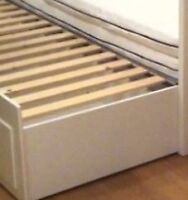 IKEA WHITE TWIN TRUNDLE BED and FREE MEMORY MATTRESS - $375.00