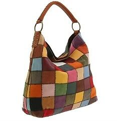*NEW!* LUCKY BRAND Patchwork HOBO TOTE SATCHEL PURSE HANDBAG Leather Suede