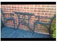 Cast iron garden bench ends/table garden furniture set