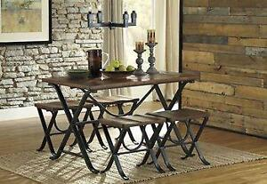 Sleek and Chic Ashley Dining set