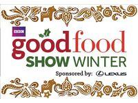 GOOD FOOD SHOW TICKETS GLASGOW X 2