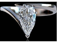 1 Carat perfect Diamond engagement ring for sale