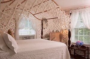 Double bed canopy and hand tied canopy cover