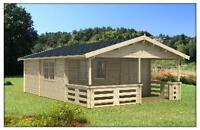 DO IT YOURSELF 3 room Log Cabin / Cottage / Bunkie Kits