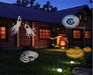 Halloween Projection Light for outdoor/Indoor use -For Halloween/Christmas and other Holidays 12 designs in One
