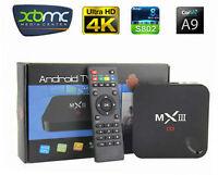 Free TV & Movies Android TV Box MX3 Quad Core XBMC Kodi Loaded