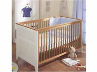 Nursery furniture, cot / cotbed, mattress,wardrobe, drawers, bedside table
