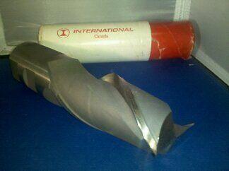 """New International 2"""" HSS End Mill 2 Flute CC"""