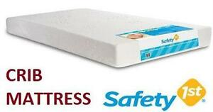 "NEW SAFETY 1ST PB CRIB MATTRESS WATER-RESISTANT - 52.5""x27""x55"" - PEACEFUL BAMBOO"
