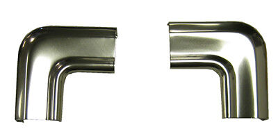 (70-74 GM F-Body Rear Back Window Glass Chrome CORNER Moulding Molding Trim PAIR)