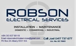 Robson Electrical Services Albany Albany Area Preview