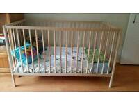 Ikea Baby Cot (RRP 40£) and Vyssa Mattress (RRP 60£) - can deliver