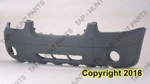 Bumper Front Textured Xlt With Fog Light Hole Without Flare CAPA Ford Escape 2005-2007