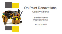 On Point Renovations install delivery maintenance and repair