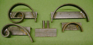 Set of 5 Wrought Iron scroll Jig Set,Scroll Former bending make your own Scrolls
