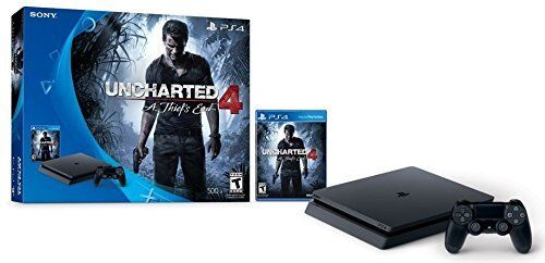 $234.99 - Sony PlayStation 4 Slim 500GB Console Uncharted 4 A Thief's End PS4 Game Bundle