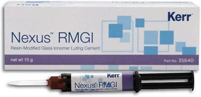 2 X Kerr Nexus Rmgi Resin Modified Glassionomer Dental Cement 5gm