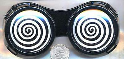 Black X-Ray Hypnotizing Sunglasses with Swirl Lens - Hypnotizing Swirl