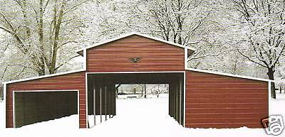 42x31 Steel Garage Storage Building Installed - Free Delivery Prices Vary